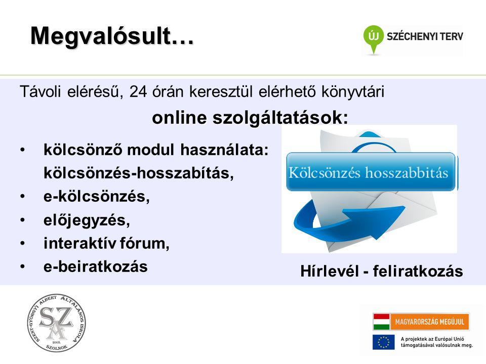 online szolgáltatások: Hírlevél - feliratkozás