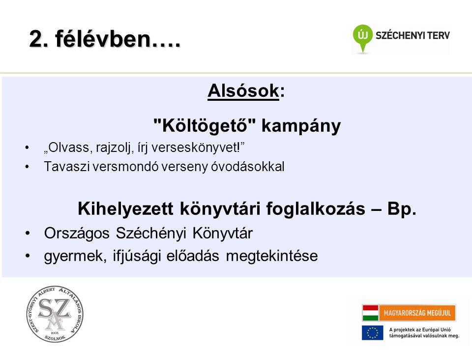 Kihelyezett könyvtári foglalkozás – Bp.