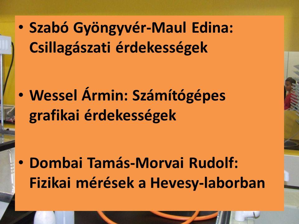 Szabó Gyöngyvér-Maul Edina: Csillagászati érdekességek