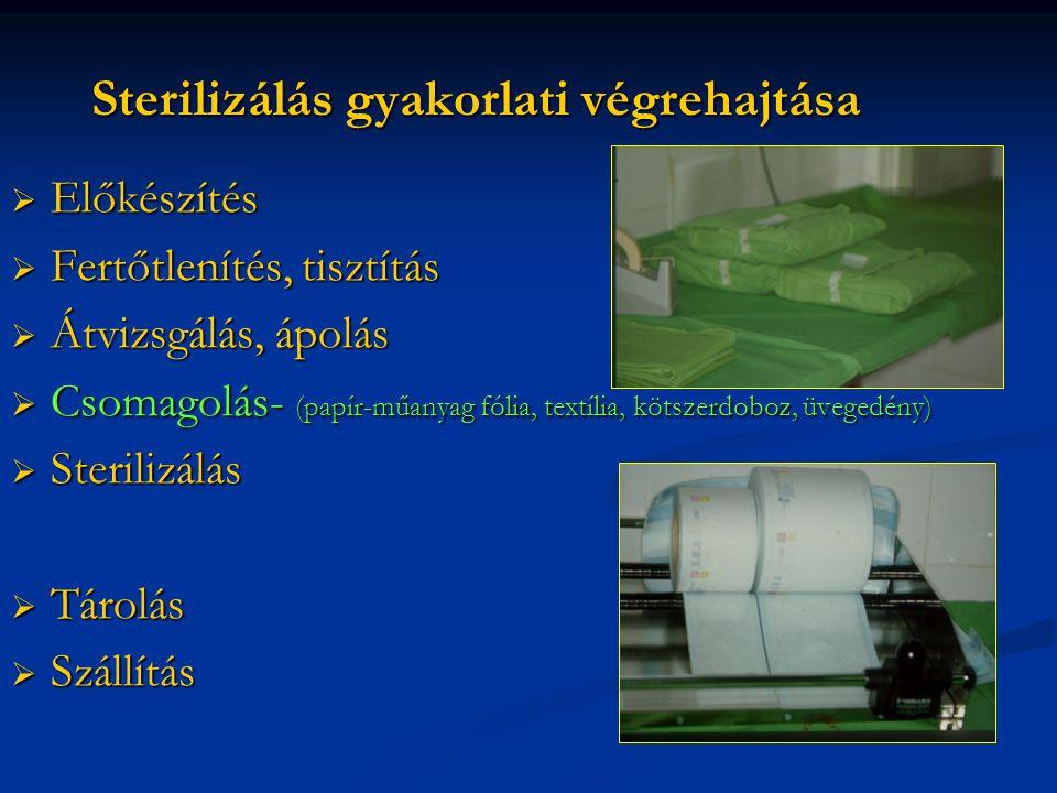 Sterilizálás gyakorlati végrehajtása