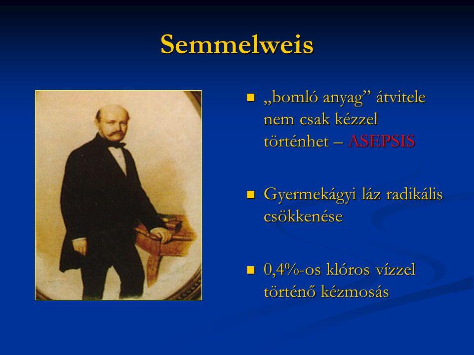"""Semmelweis """"bomló anyag átvitele nem csak kézzel történhet – ASEPSIS"""