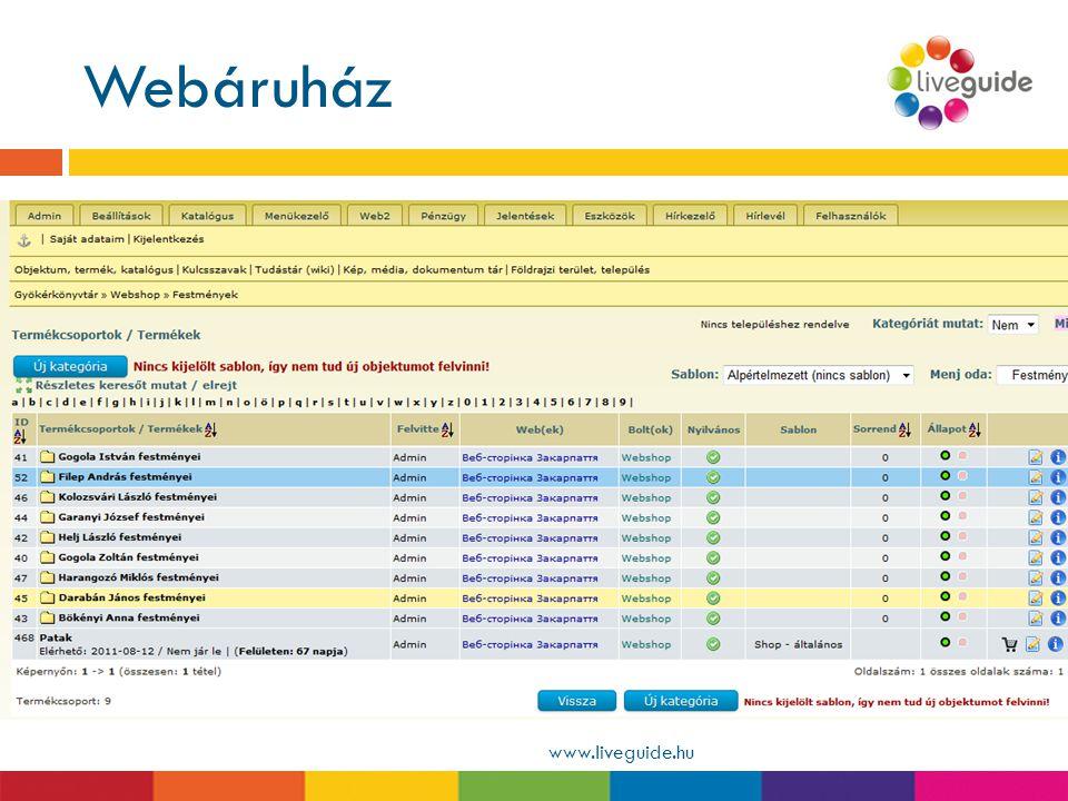 Webáruház Helyi termékek, térképek, könyvek, ajándékok értékesítése