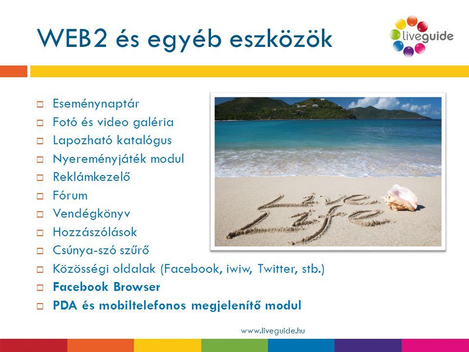 WEB2 és egyéb eszközök Eseménynaptár Fotó és video galéria