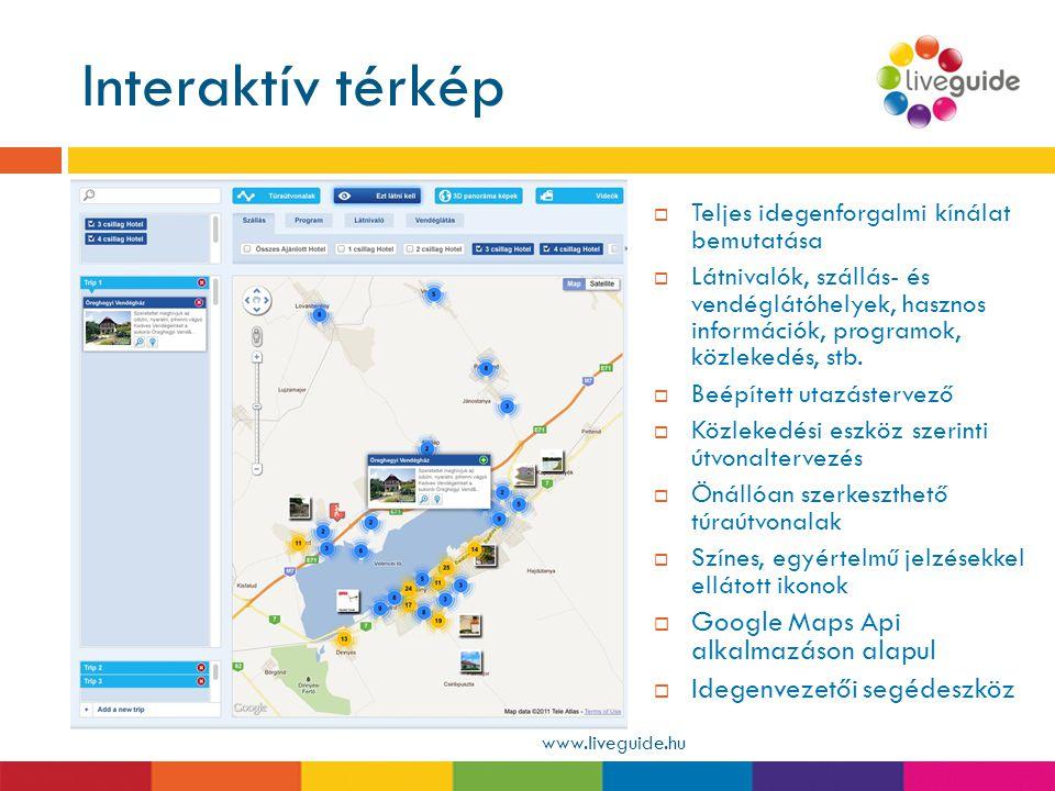 Interaktív térkép Google Maps Api alkalmazáson alapul