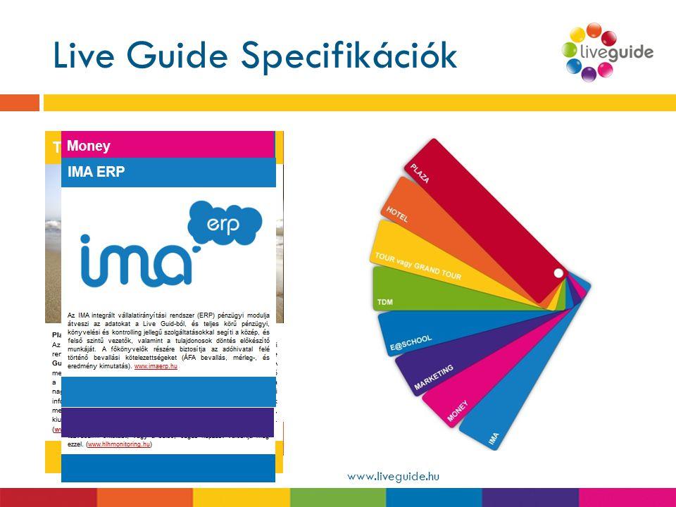 Live Guide Specifikációk