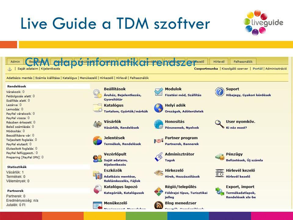 Live Guide a TDM szoftver