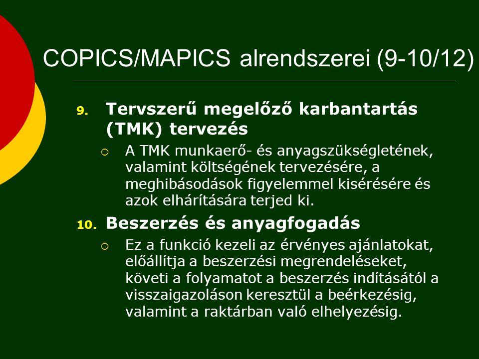 COPICS/MAPICS alrendszerei (9-10/12)