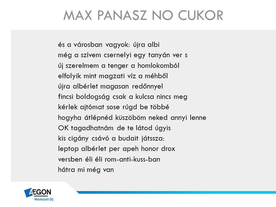 MAX PANASZ NO CUKOR