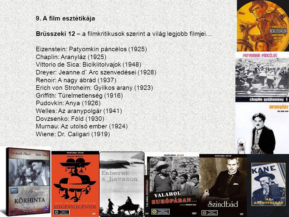 9. A film esztétikája Brüsszeki 12 – a filmkritikusok szerint a világ legjobb filmjei… Eizenstein: Patyomkin páncélos (1925)