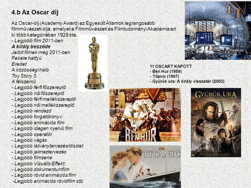 4.b Az Oscar díj