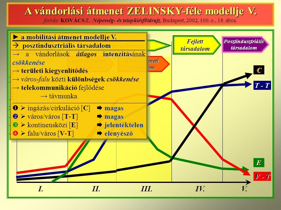 A vándorlási átmenet ZELINSKY-féle modellje V.