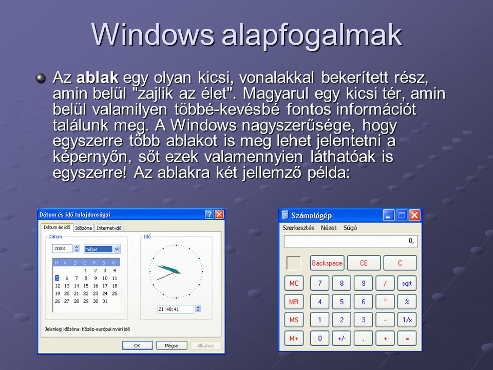 Windows alapfogalmak