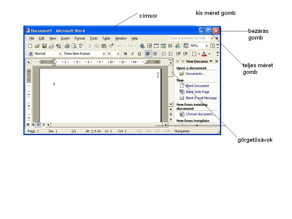A Windows operációs rendszerben minden program ablakban jelenik meg.