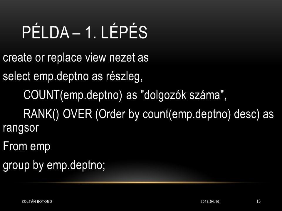 Példa – 1. lépés