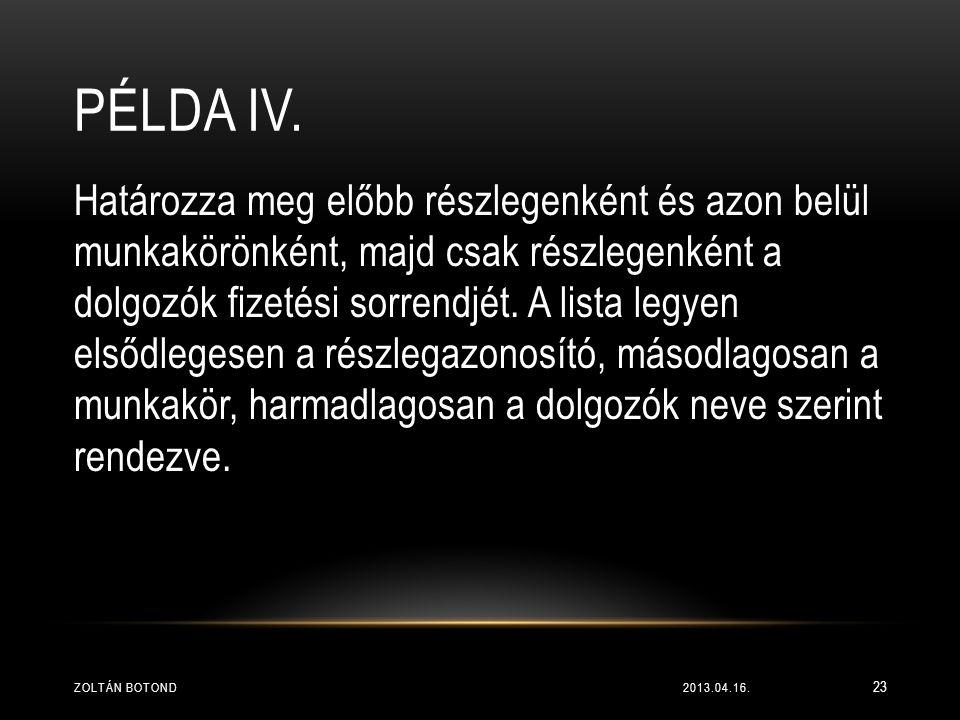 Példa IV.