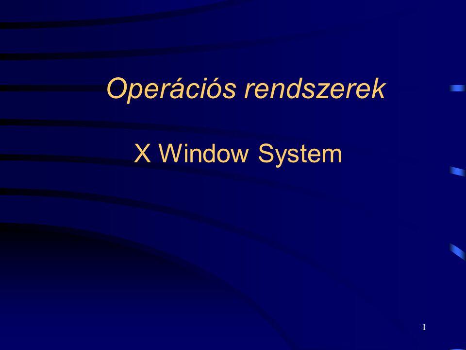 Operációs rendszerek X Window System