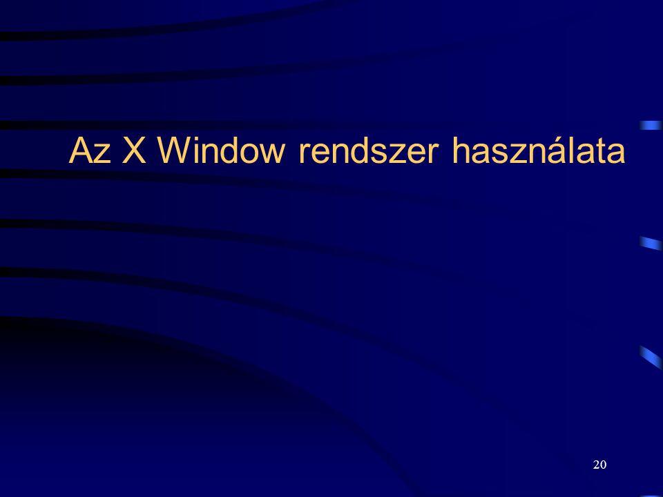 Az X Window rendszer használata