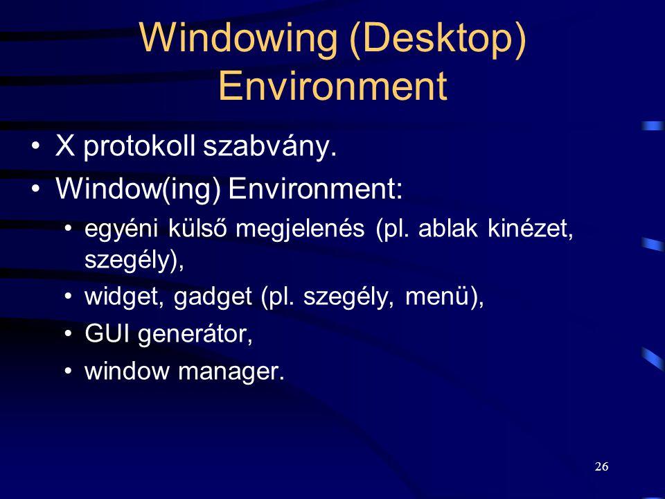 Windowing (Desktop) Environment