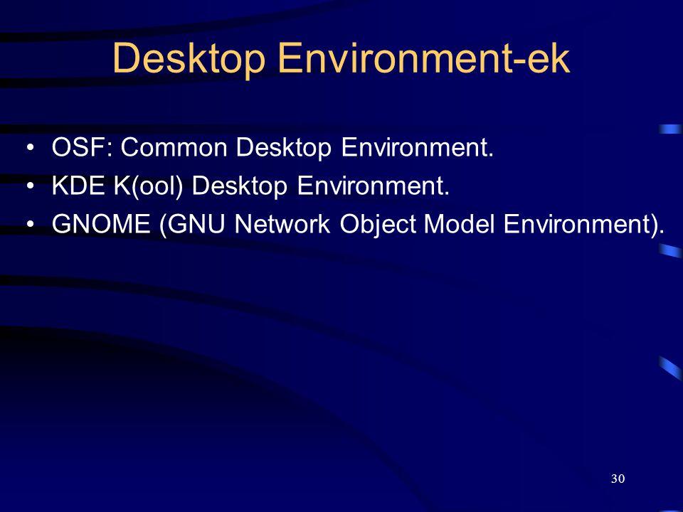 Desktop Environment-ek