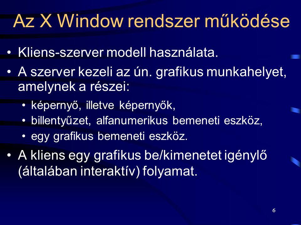 Az X Window rendszer működése