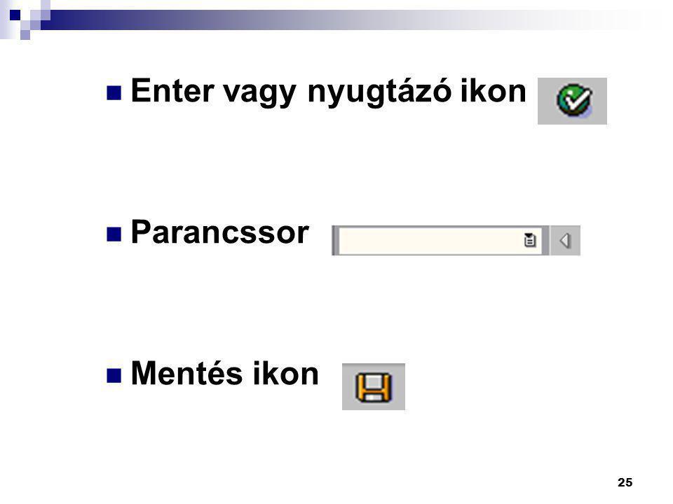 Enter vagy nyugtázó ikon