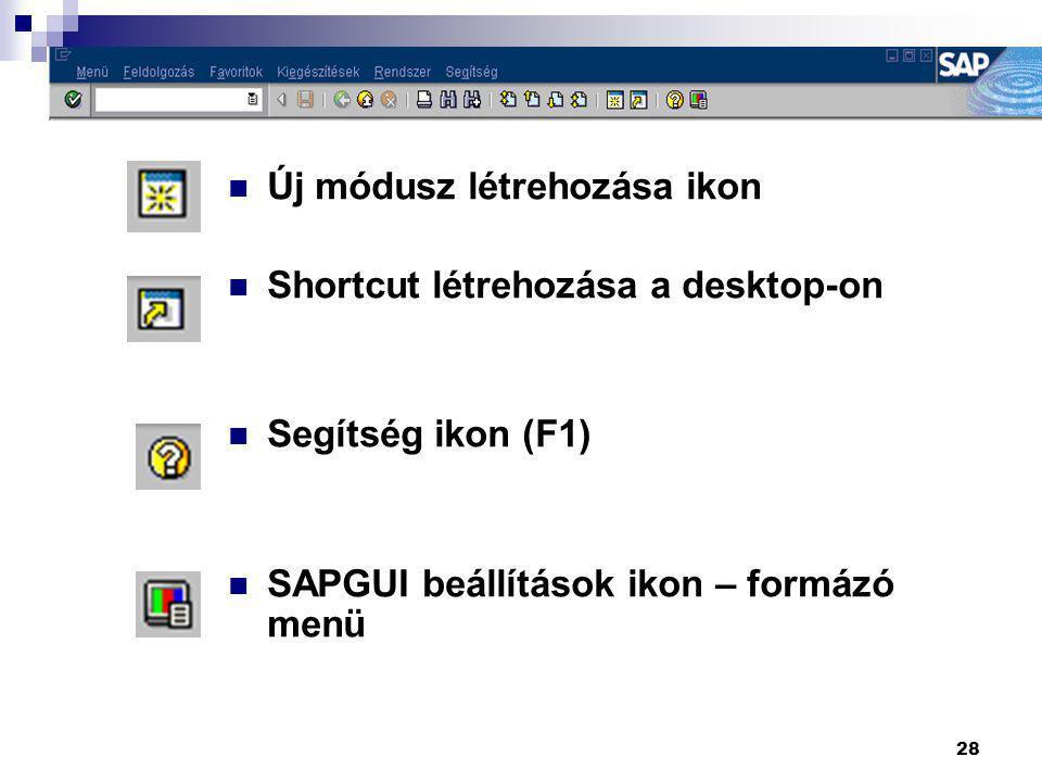 Új módusz létrehozása ikon Shortcut létrehozása a desktop-on