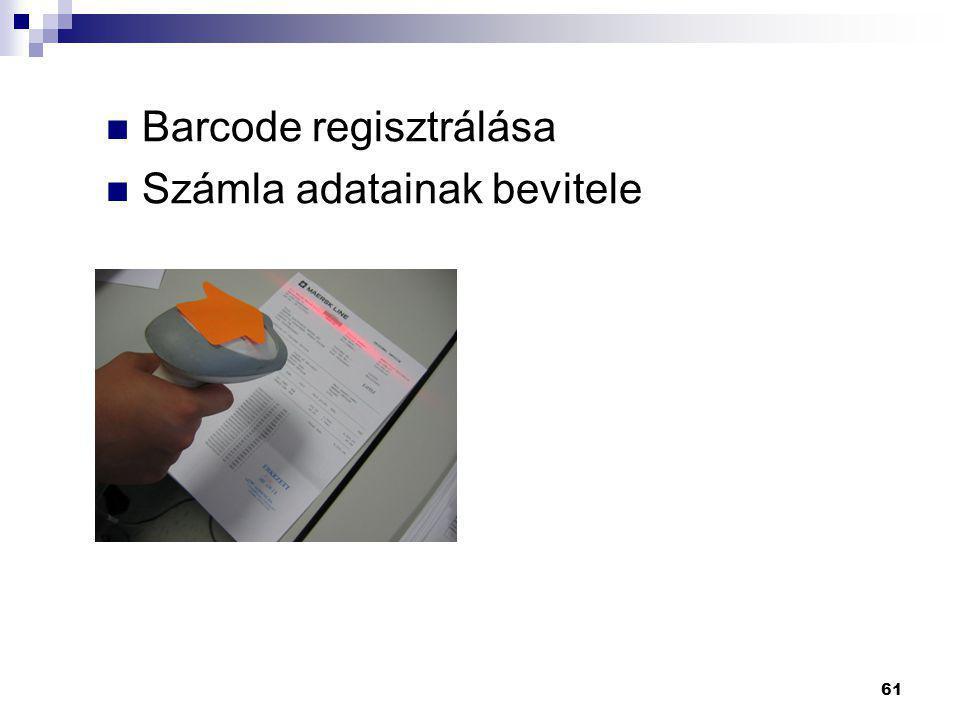 Barcode regisztrálása