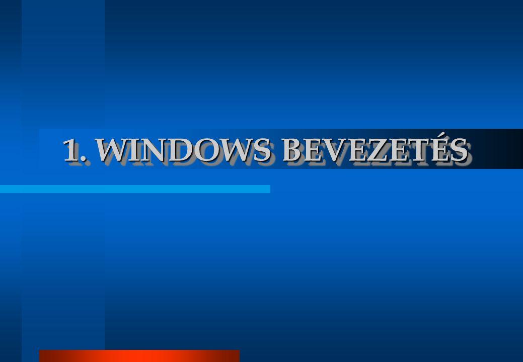 Bevezetés WINDOWS.