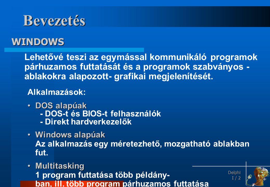 Bevezetés Windows rendszer = dinamikusan szerkeszthető könyvtárak