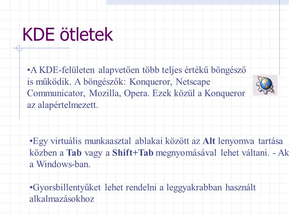 KDE ötletek