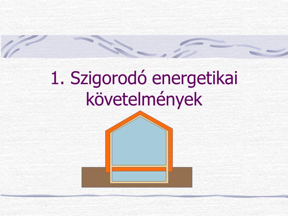 1. Szigorodó energetikai követelmények