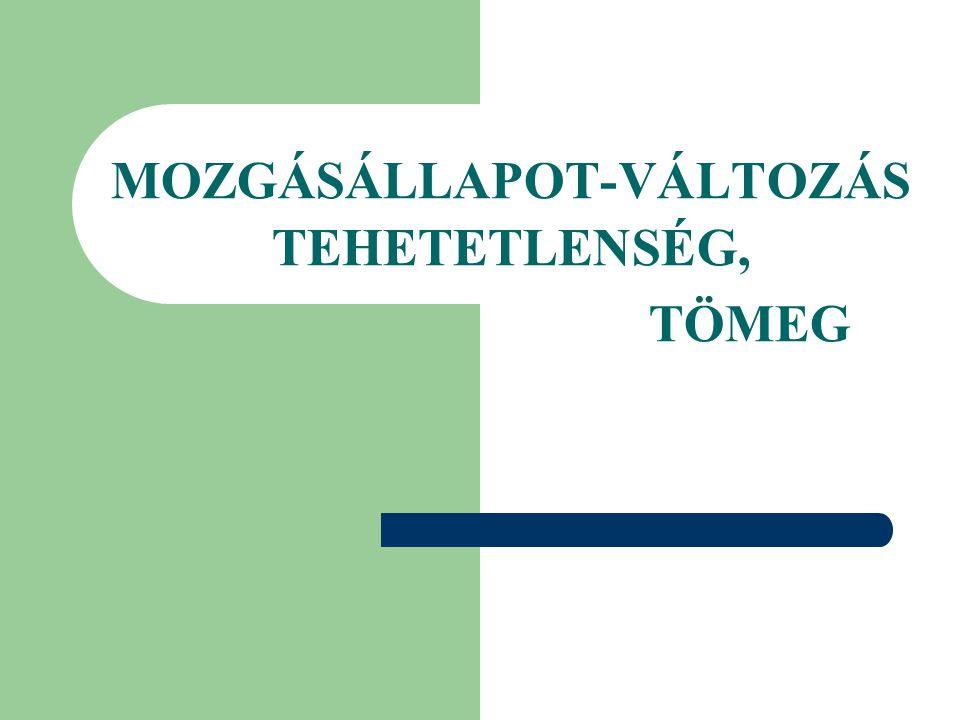 MOZGÁSÁLLAPOT-VÁLTOZÁS TEHETETLENSÉG,