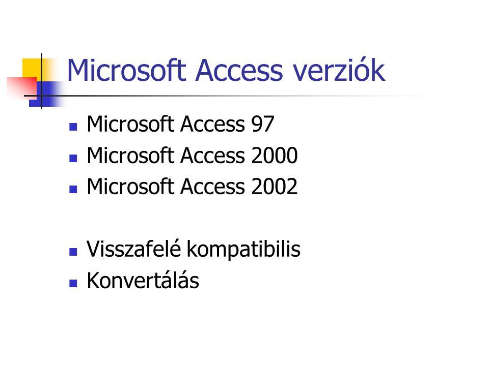 Microsoft Access verziók