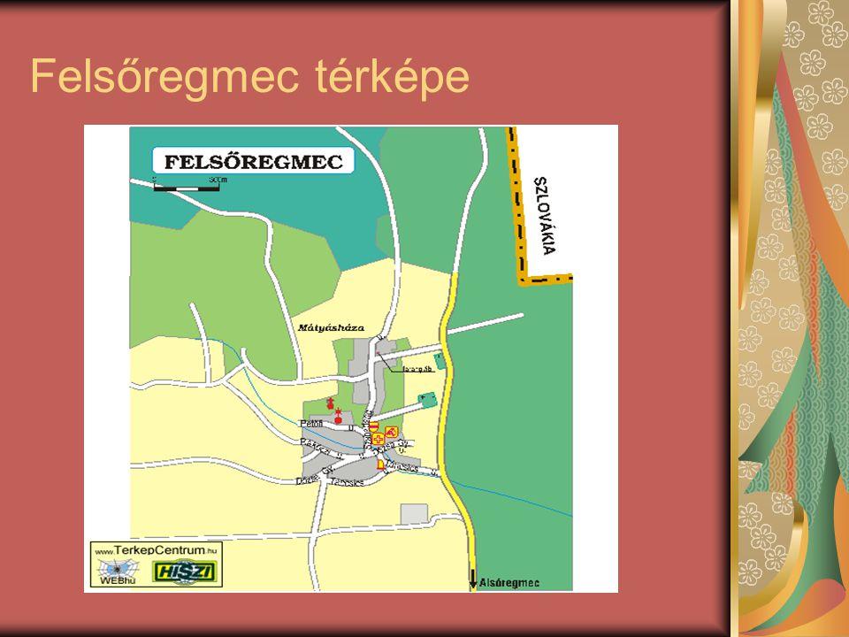Felsőregmec térképe