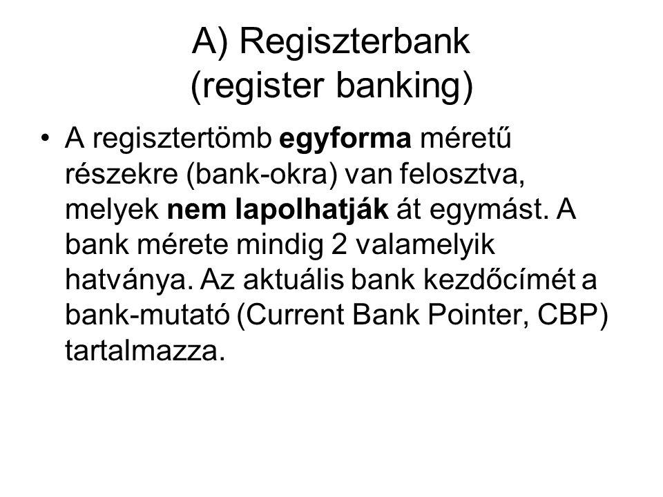 A) Regiszterbank (register banking)