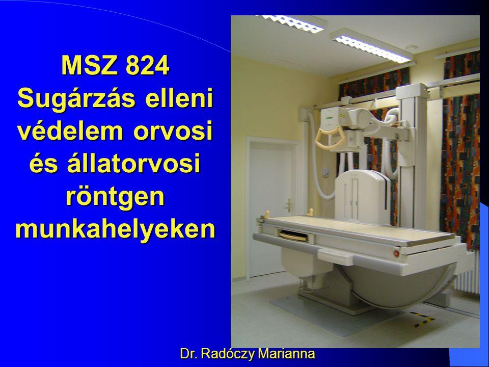Sugárzás elleni védelem orvosi és állatorvosi röntgen munkahelyeken