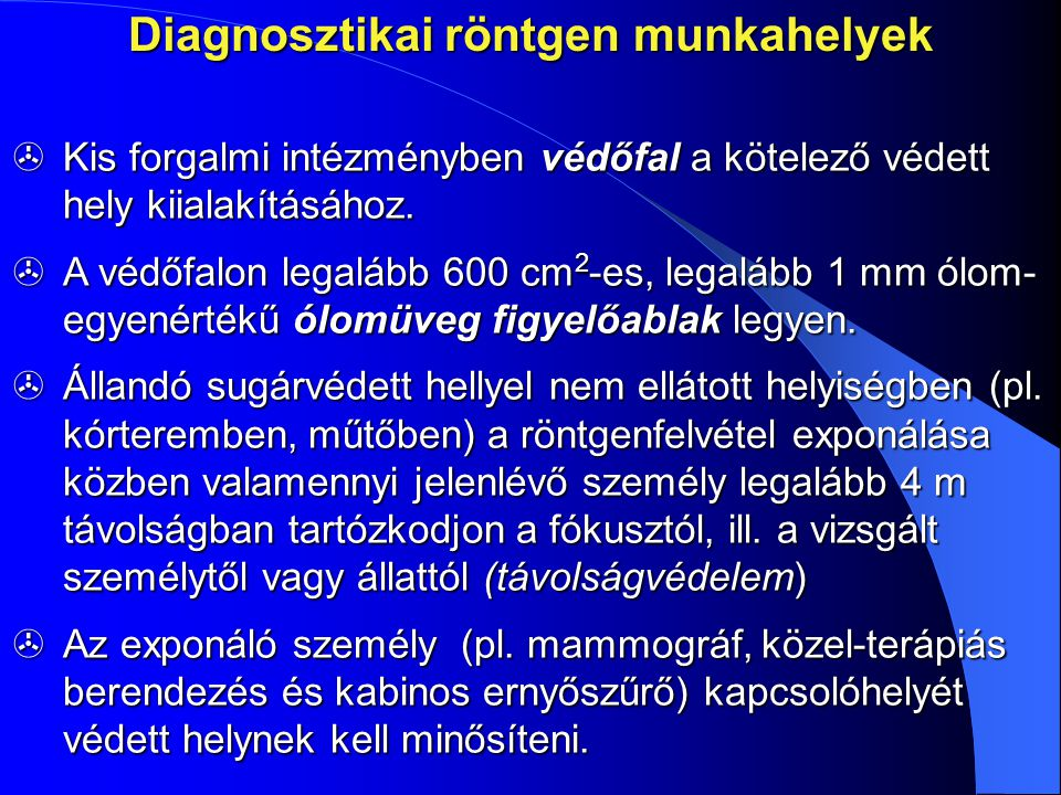 Diagnosztikai röntgen munkahelyek