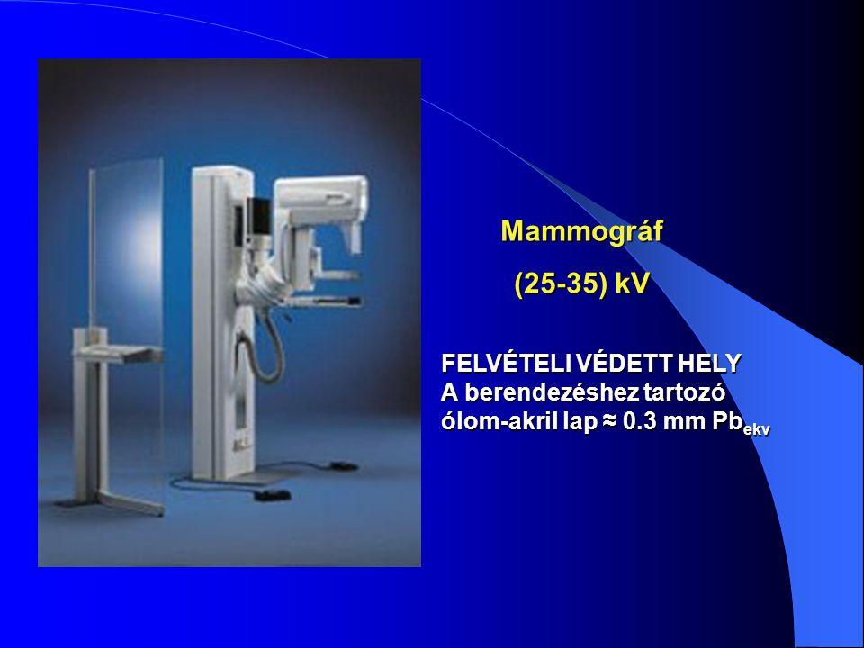 Mammográf (25-35) kV FELVÉTELI VÉDETT HELY