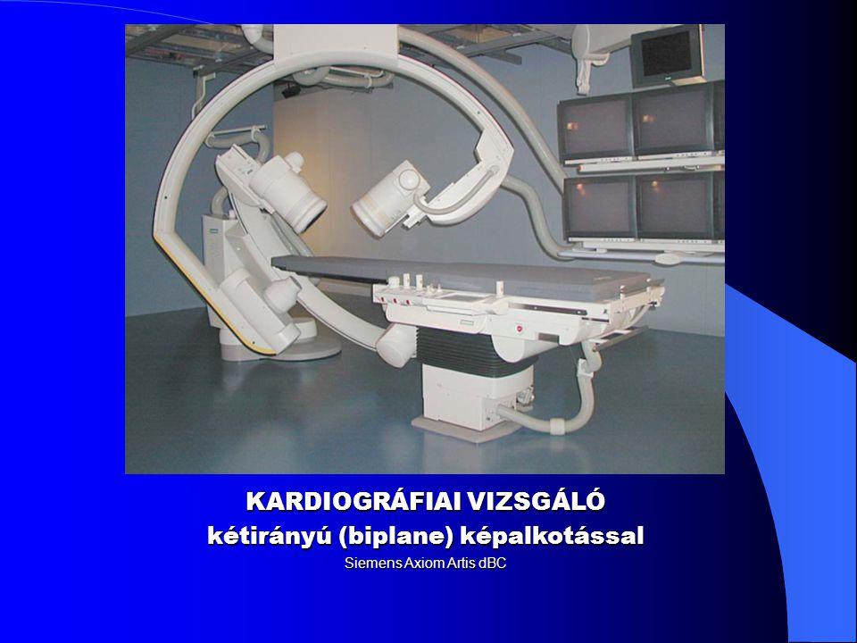 KARDIOGRÁFIAI VIZSGÁLÓ kétirányú (biplane) képalkotással
