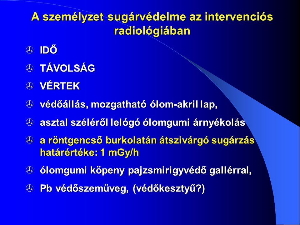 A személyzet sugárvédelme az intervenciós radiológiában