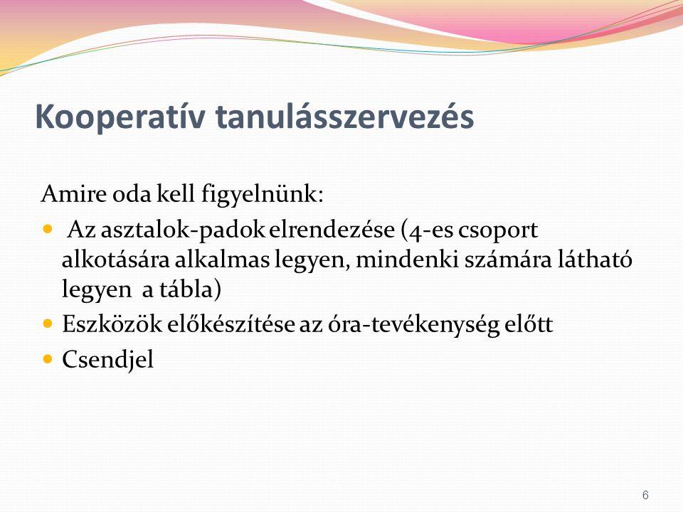 Kooperatív tanulásszervezés