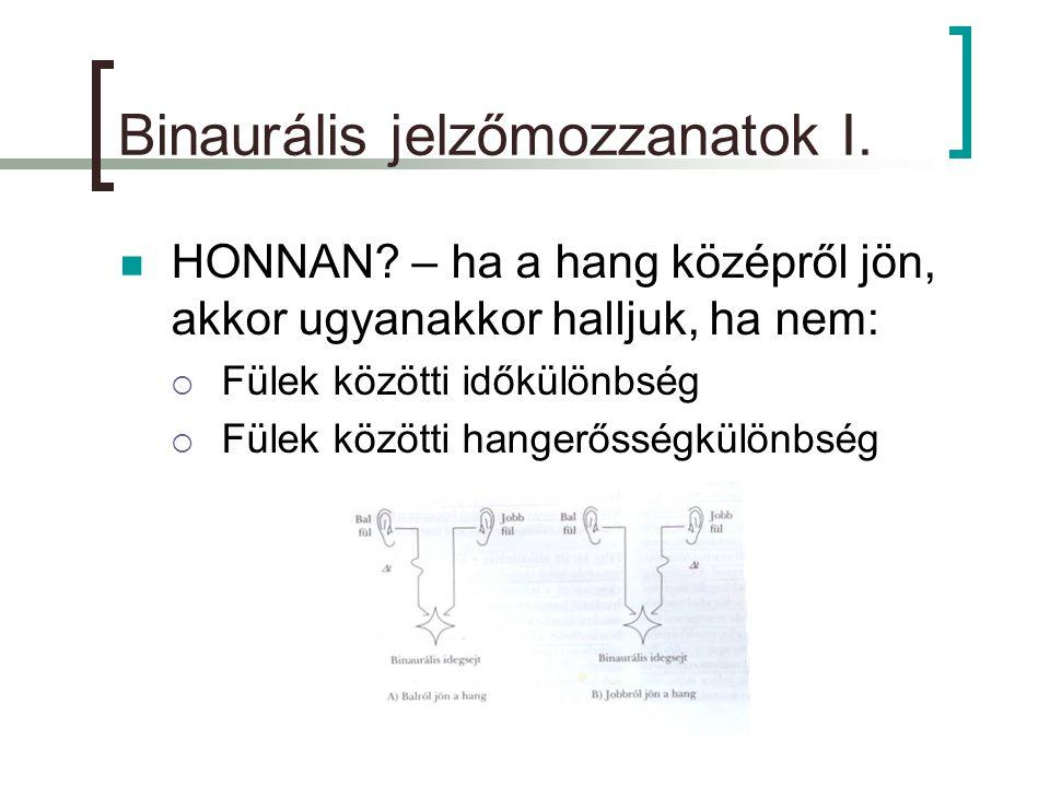Binaurális jelzőmozzanatok I.