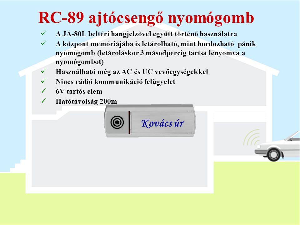 RC-89 ajtócsengő nyomógomb
