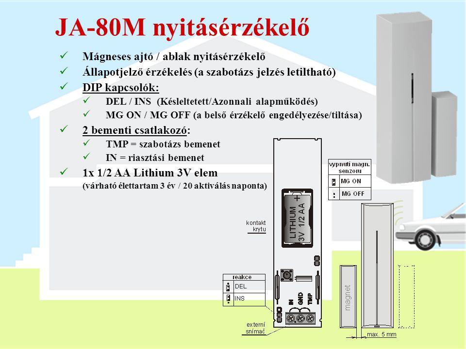 JA-80M nyitásérzékelő Mágneses ajtó / ablak nyitásérzékelő