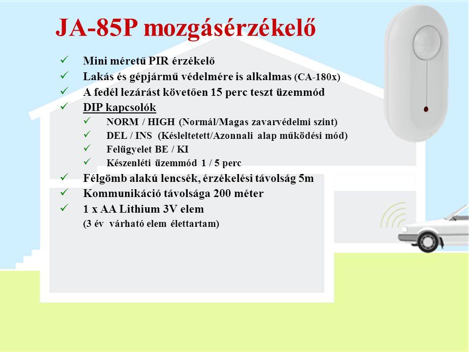 JA-85P mozgásérzékelő Mini méretű PIR érzékelő