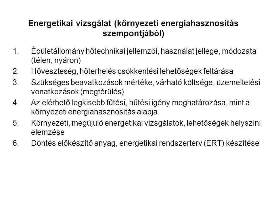 Energetikai vizsgálat (környezeti energiahasznosítás szempontjából)