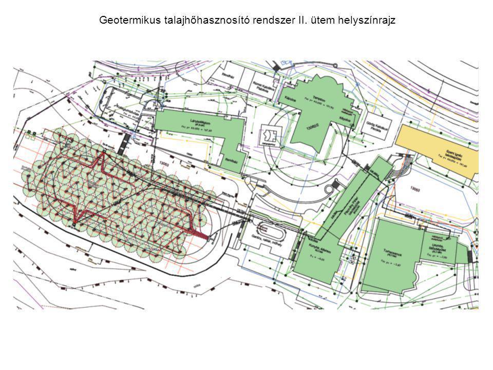 Geotermikus talajhőhasznosító rendszer II. ütem helyszínrajz