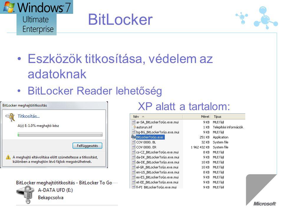BitLocker Eszközök titkosítása, védelem az adatoknak