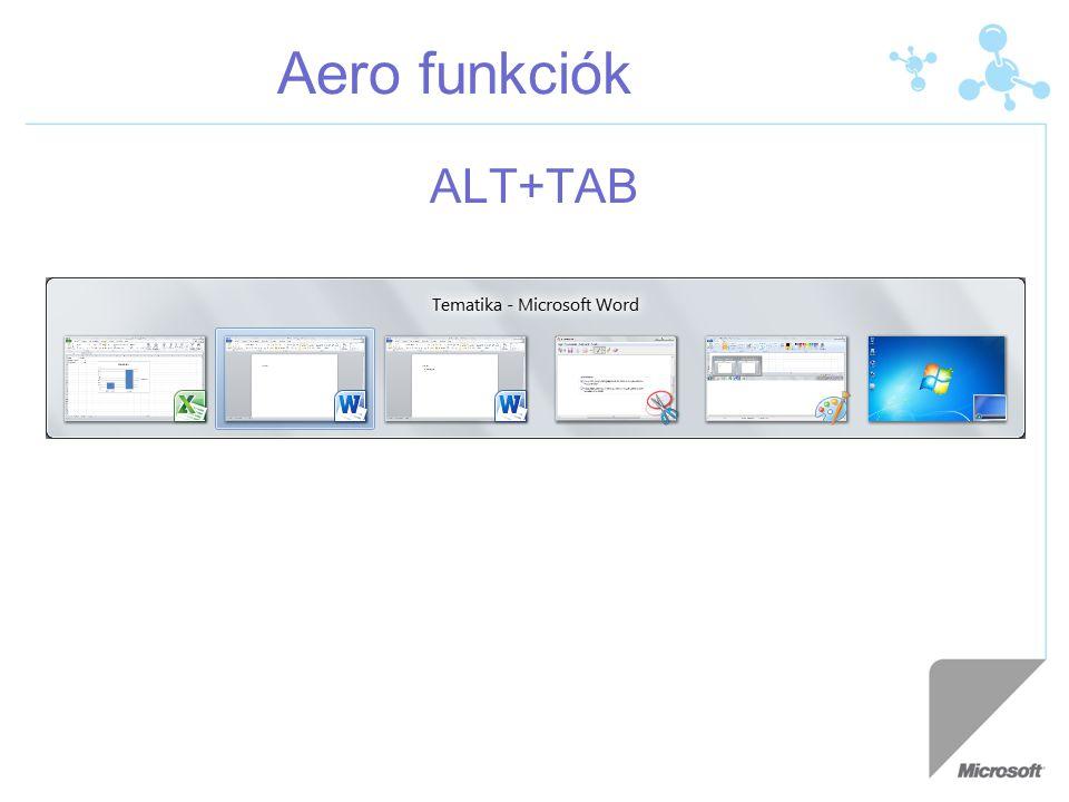 Aero funkciók ALT+TAB