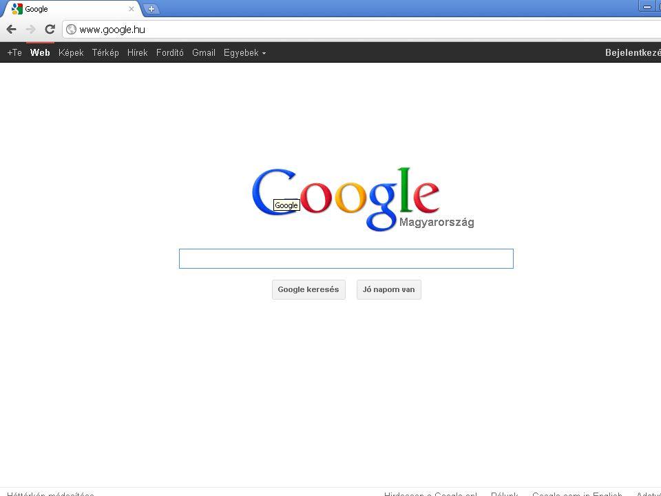 Napjainkban a legismertebb, legnépszerűbb, leggyakrabban alkalmazott kereső szolgáltatása a Google, amely egy globális kereső szolgáltatás és a www.google.hu címen elérhető.